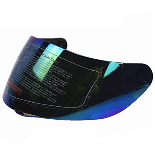 Visera exterior de iridio, compatible con casco antiarañazos AGV K3 SV K5 316 902, visera para motocicleta D7 J7 Tamaño libre Colorful