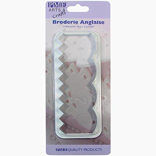 PME FF383 gerader Rüschenausstecher für Lochstickerei, Kunststoff, Ivory, 5 x 1.5 x 14 cm (Fabric Electric Cutter)