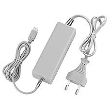 QUMOX caricabatterie alimentatore A/C adattatore charger per Nintendo WII U gamepad