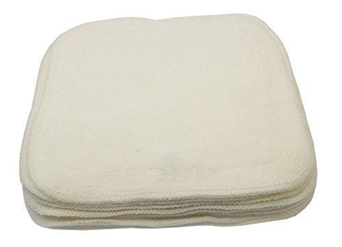 Blümchen Kuschel-Reinigungstücher Bio-BW 10er-Set weiß (Handschuh Natur-jersey)