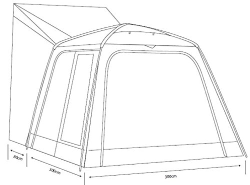 Outdoor Revolution Cayman XL Freestanding Driveway Campervan Awning 4