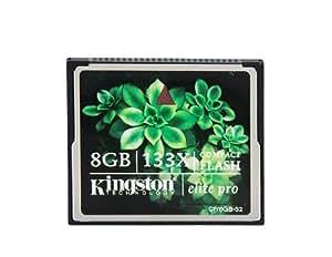 Kingston 8GB 133X CF Compact Flash Card(Black)