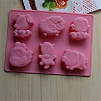 HYSF Pink Letter Cake Popsicle Silicone Ice Cream Mold