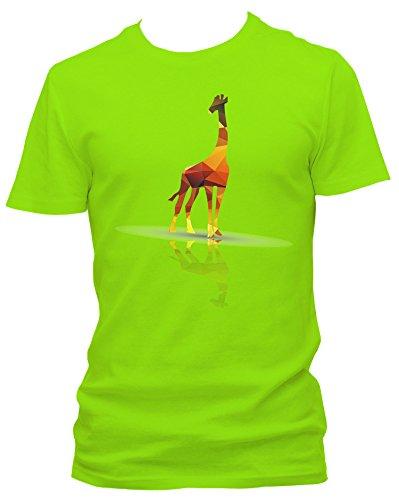 NEON Herren T-Shirt Vektor Giraffe FUN_neongrün_L