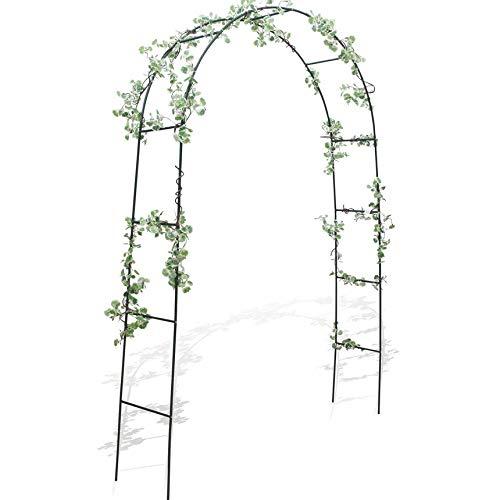 Takestop® arco da giardino sostegno per piante rose rampicanti rampicante fiori 240x130x37 cm diametro 13 mm in metallo arcate decorazione pergolato matrimonio wedding