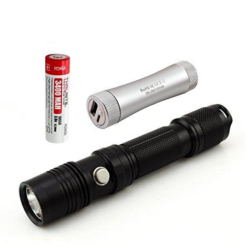 ThruNite® TN12 EDC LED-Taschenlampe mit ThruNite® U1 Ladegeraet +1pcs 18650 3400mAH (TN12 XP-L CW+C2+3400)