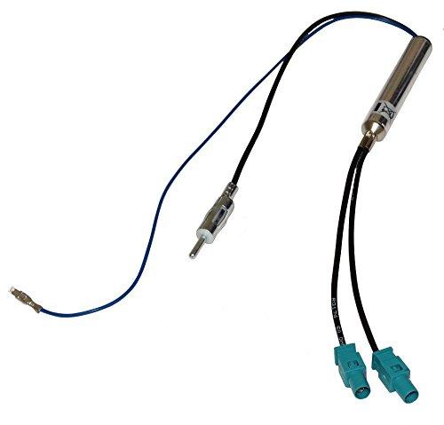 AERZETIX Adapter antenne Verstärker Auto Doppel-FAKRA-DIN C1398