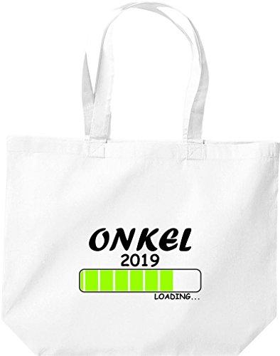 ShirtInStyle grosse Einkaufstasche Loading ONKEL 2019 Weiß
