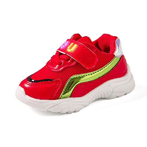 Babyschuhe,Children Baby Girls Boys Letter Mesh LED Light Luminous Running Sport Shoes,❤️Binggong Baby LED Schuhe