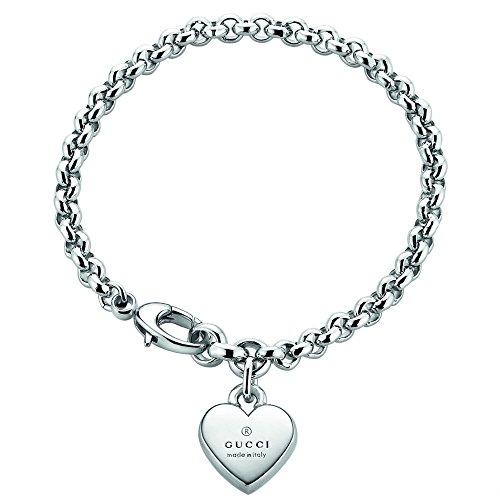 Gucci Herz (Gucci Markenzeichen Herz Anhänger Silber Armband 1.585cm yba356210001016)