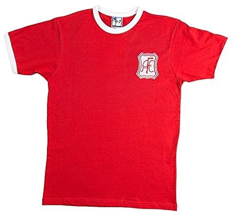 Retro Aberdeen 1960s Football T Shirt New Sizes S-XXL Embroidered Logo