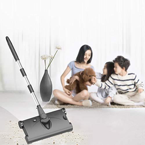 wyxhkj 2 in 1 intelligenter Handstoß-Kehrmaschine der 360 ° -Drehungs-, drahtlose aufladende elektrische Kehrmaschinen-Mopp-Reinigungs-Haushaltsmaschine (Black)