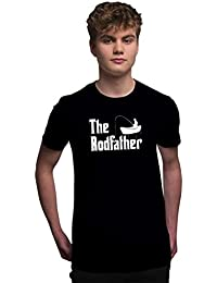 Men's Fish T Shirt Fishing Clothing The Rodfather Gifts for Fisherman