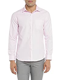 Richard Parker by Pantaloons Men's Checkered Slim Fit Casual Shirt (110037495008_Pastel Pink_40)