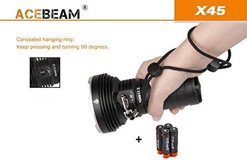 Acebeam x45Taschenlampe LED Profi Lumens 16500Meter 583Lux 85200Cool