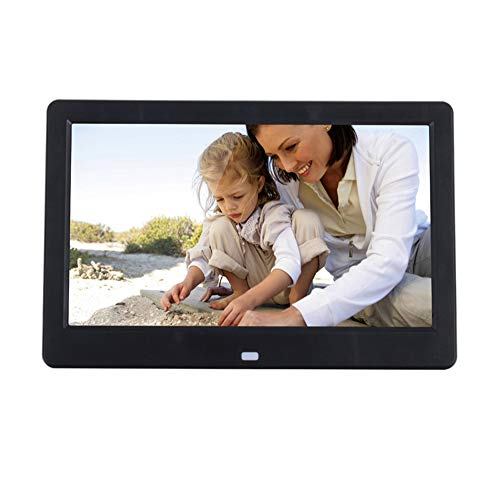 Earlyheart 10 Zoll Widescreen LED Digital Photo Frame Multifunktion HD Electronic Photo Album Video Player,Black
