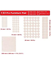 HOME CUBE urniture Pads Non Skid Scratch Self Sticking Felt Floor Protector (Beige) -133 Pieces