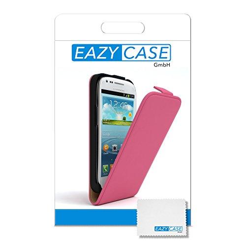 EAZY CASE Flip Case Hülle für Samsung Galaxy S3 Mini Handyhülle - Premium Schutzhülle zum Aufklappen, Klapphülle - Flip Cover in Pink Pink