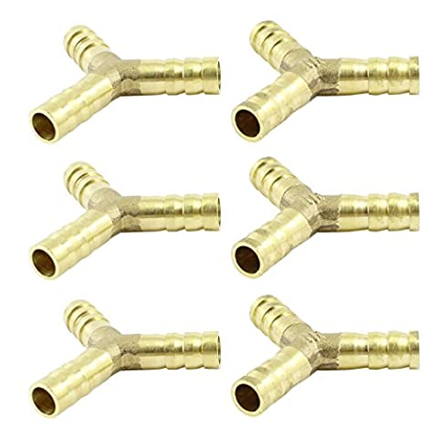 3 Way Y Hose Barb Connector 6 Pcs for 10mm Inner Dia Air Water Pipe