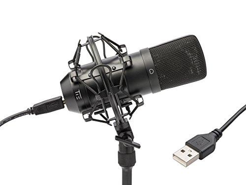 TIE Studio USB Großmembranmikrofon inkl. Spinne matt schwarz