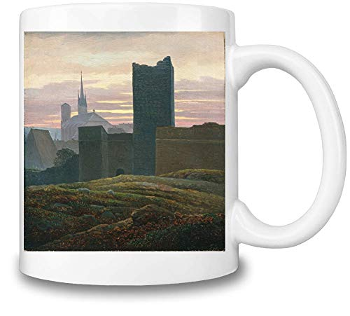Top Paintings of All Time Carl Gustav Carus - The Imperial Castle, Eger Painting Coffee Mug Ceramic Coffee Tea Beverage Kitchen Mugs by Imperial Castle