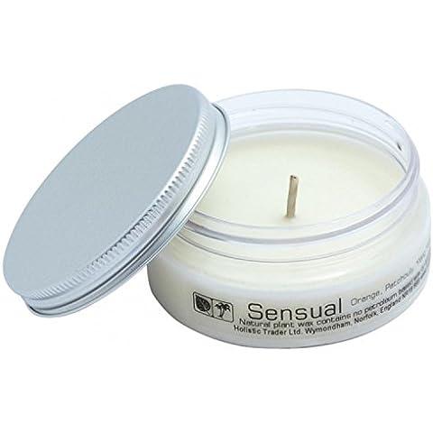 CrystalGemsStore Sensual vela de viaje (con aceites esenciales) de combustión limpia orgánico Natural cera de soja y palma
