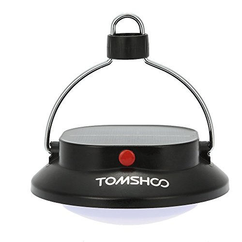 TOMSHOO Luces Solar de Camping Lámpara Colgante Acampa Portátil Recargable con USB o Paneles Solares Cargador para el Teléfono 3 Modo 200 LM 12 LED