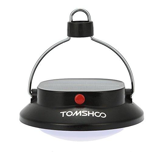 TOMSHOO 200LM LED Solar Campinglampe Camping Laterne Zeltlampe mit Akku & USB Aufladen(Notfall Ladegerät für Handy) (1 Stück)
