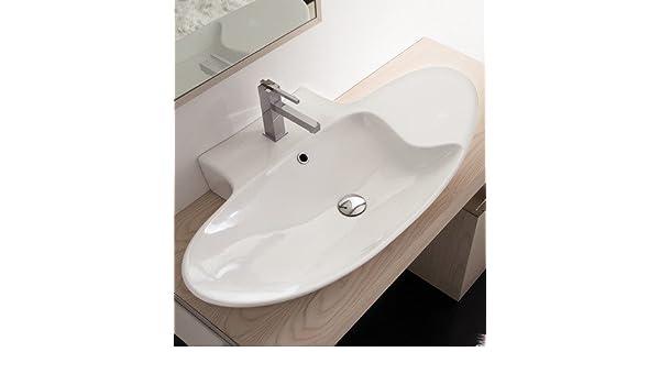 Vasche Da Bagno Zefiro : Zefiro scarabeo 90 r mensola lavabo con ripiano platino: amazon.it
