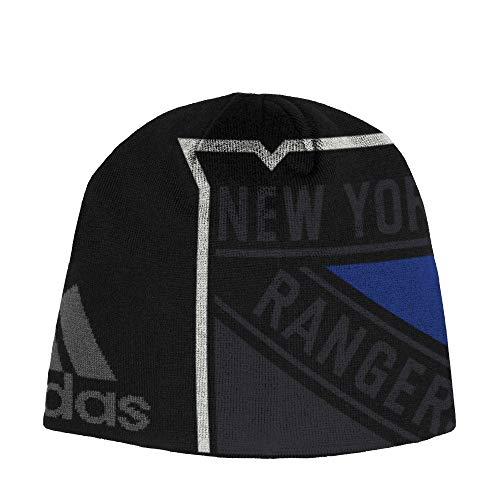 adidas New York Rangers Jacqurad Beanie NHL Wintermütze, One Size