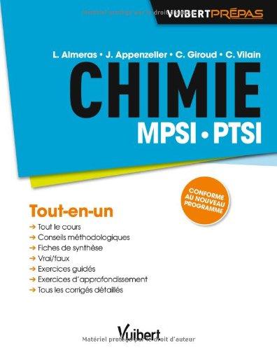 Chimie MPSI-PTSI - Tout-en-un - Conforme au nouveau programme par Loïc Almeras