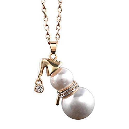 n Anhänger Frauen Pullover Kette Halskette Xmas Schmuck Geschenk goldfarben ()