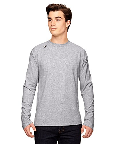 T390Champion Vapor® Baumwolle Langarm T-Shirt Athletic Heather