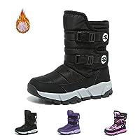 Kids Snow Boots Kids Boys Girls Winter Fur Lined Boots Winter Waterproof Snow Boots Outdoor Warm Boots Skid Resistance