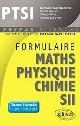 Formulaire Mathématiques Physique Chimie SII PTSI