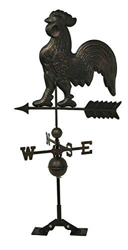 Bronze-Finish Metall Hahn Wetterfahne W/Dach Halterung