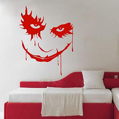 Gesicht Ghost Blood Horror Cartoon Clown Abnehmbare Vinyl Wandaufkleber Abziehbild Dekor Schlafzimmer Sofa Hintergrund 58x75 cm ()