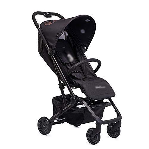 Baby Stroller, Leichtgewicht Faltbare Tragbare Baby Umbrella kann setzen und liegen auf der Plane mit 5-Punkt Sicherheit Harness Multi-Position Liegen-Siffplatz große Speicherkorb Suspension Wheels (Der Sicherheit Planen)