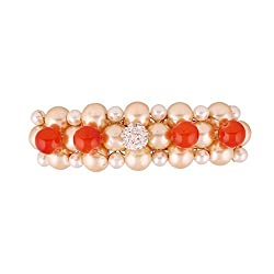 Accessher designer back clip hair accessories with pearls and beads for Women