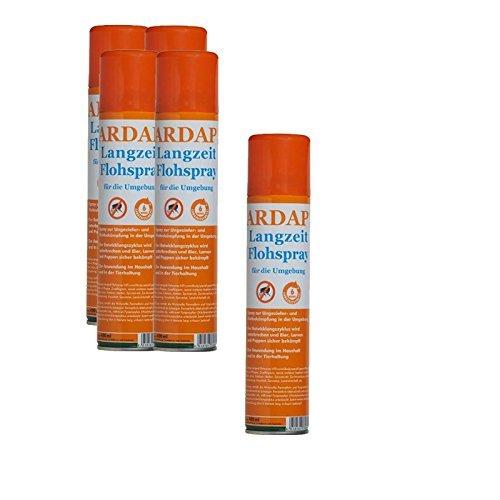 5 x 400 ml Ardap Langzeit Flohspray für die Umgebung Quiko Das Original
