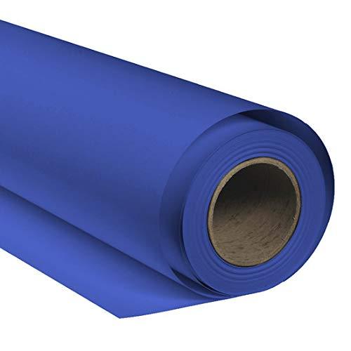 BRESSER SBP27 Fond de Studio Papier sur Rouleau 1,36x11m Bleu...