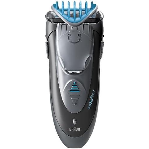 Braun cruZer6 face - Afeitadora (1 h) Gris, Plata