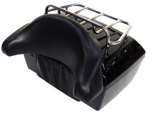 GZM Top-Rack-Koffer mit Rückenlehne und Ablage für Harley, Honda, Yamaha, Kawasaki, Suzuki