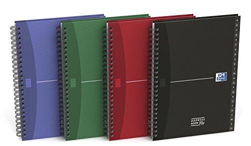 Oxford 100101258 Rubrica Formato A5 144 Pagine Carta 90gr Rigatura Speciale e Lettere Plastificate Assortito