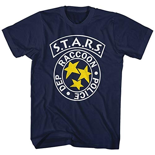 Resident Evil Horror Science Fiction Film Video Game Rpd Stars Adult T-Shirt Tee Casual Cotton Short Seelves T-Shirt