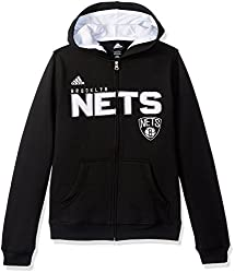 NBA Brand NBA Youth 8-20 BROOKLYN Nets Stated Full Zip Hoodie, L(14-16), Cool Grey