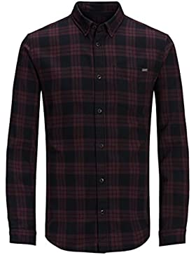 Jack & Jones - Camisa casual - Cuadrados - con botones - Manga Larga - para hombre