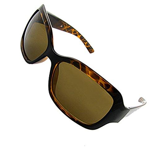 DealMux Vollrand Rahmen Kunststoff Tortoise Sonnenbrille Eyewear Bernstein w Fall