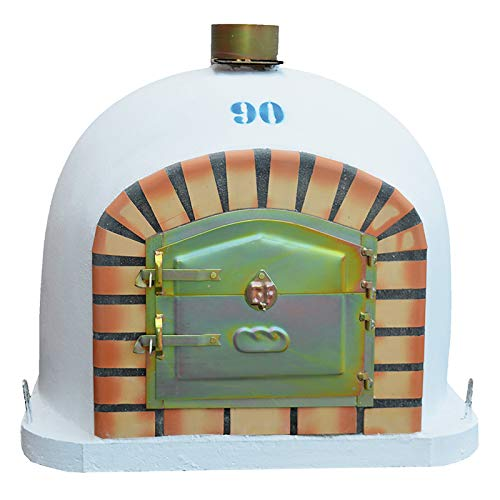 Outdoor Wood Fired Oven 90 x 90cm Garden Firewood Bread Oven