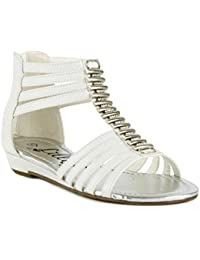 Sandales Gladiator Lilley fille avec coutures Blanc